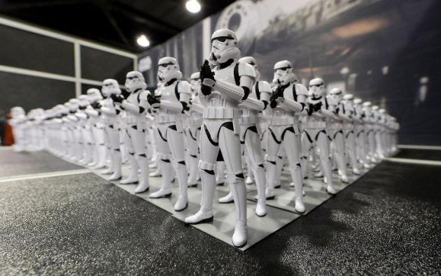 Figurines de stormtroopers son parte de la decoración del lugar.