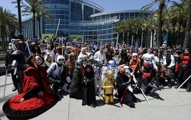 Los fans asistieron disfrazados de sus personajes favoritos de la saga.