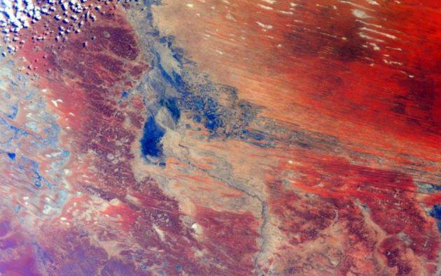 Un sobrevuelo del territorio australiano desde la Estación Espacial Internacional.