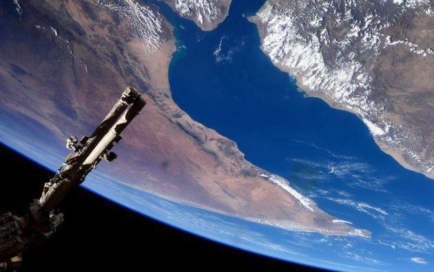 Un sobrevuelo sobre el Golfo de Adén, entre el Cuerno de África y la península arábiga.
