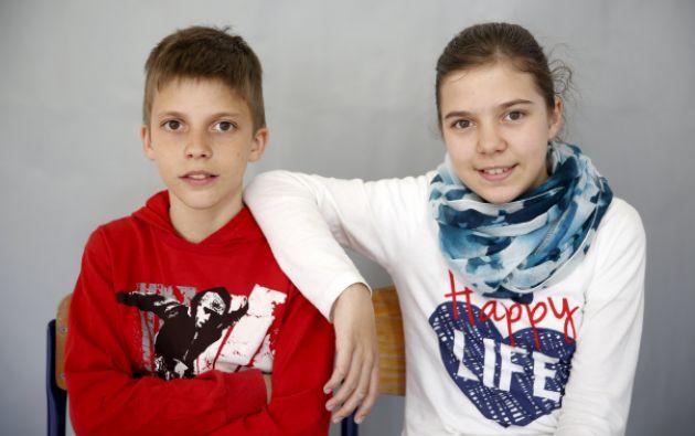 Almina y Almin Duranovic. Fotos: REUTERS.