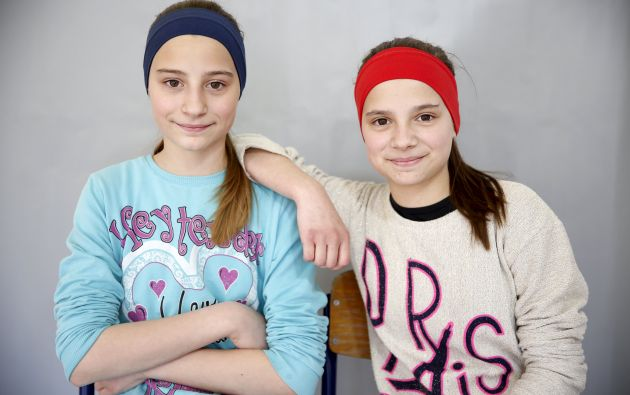 Las gemelas Merjema y Merisa Baltic.