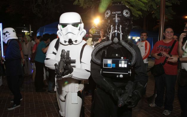 El traje de stormtrooper es uno de los favoritos en estas reuniones.
