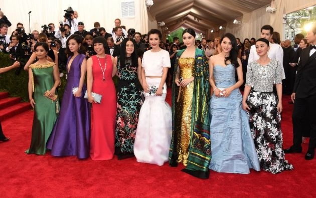 GuoPei, Vicky Zhao, Zhang Yu, guest, bing bing Li, Yuanyuan Gao, y Xun Zhou. Foto: AFP