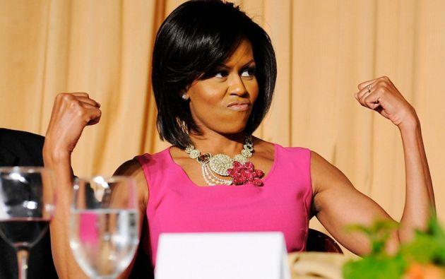 Michelle Obama, la primera dama de los Estados Unidos. Es abogada y madre de Natasha y Malia Ann.