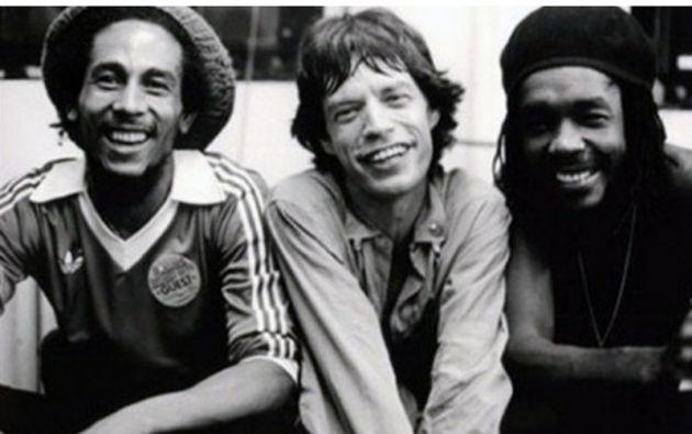 """Mick Jagger, vocalista de """"The Rolling Stones"""", era un fan del reggae y de la música de Bob Marley y Peter Tosh."""