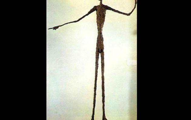 """3. Alberto Giacometti, """"El hombre que apunta"""". Escultura vendida en 141,28 millones de dólares en Christie's de Nueva York el 11 de mayo de 2015."""
