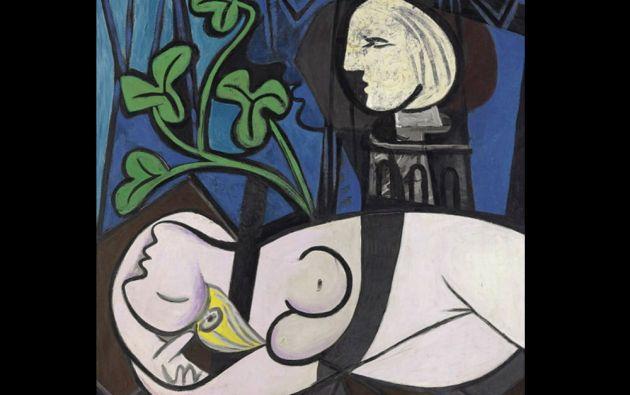 """5. Pablo Picasso, """"Desnudo, hojas verdes y busto"""". 106,48 millones de USD el 4 de mayo de 2010 en Christie's Nueva York."""