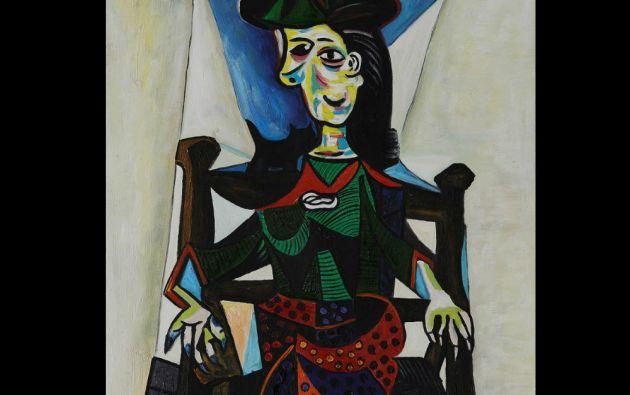 """10. Pablo Picasso, """"Dora Maar con gato"""". 95,21 millones de dólares, Sotheby's Nueva York, 3 de mayo de 2006."""