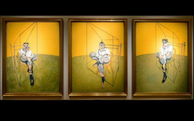 """2. Francis Bacon, """"Tres estudios de Lucian Freud"""". Tríptico subastado en 142,4 millones de USD en Christie's de Nueva York el 12 de noviembre de 2013."""