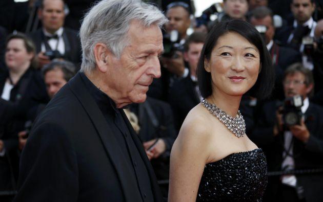 El director Costa Gavras y la ministra de Cultura de Francia, Fleur Pellerin.