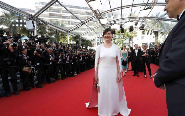 Isabella Rossellini, hija de Ingrid Bergman, en su llegada a la inauguración del evento.