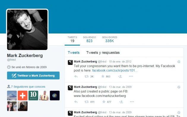 Tiene 220 mil seguidores en Twitter, a pesar de que Mark solo ha tuiteado19 vecesdesde hace cuatro años.