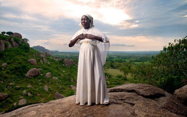 Kit Mikayi es una formación rocosa de 40m situada al oeste de Kisumu, Kenia occidental./ ALLAN GICHIGI