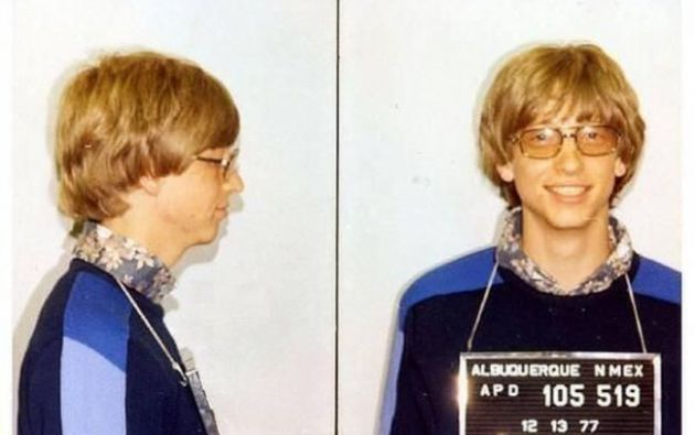 Bill Gates arrestado por conducir sin licencia en 1977