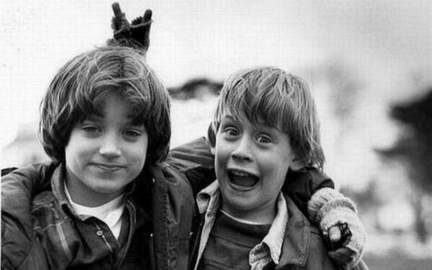 Elijah Wood y Macaulay Culkin en 1993