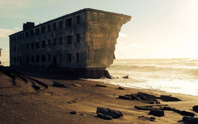 Ciudad pesquera abandonada en In Kamchatka en Rusia. Foto: englishrussia.com