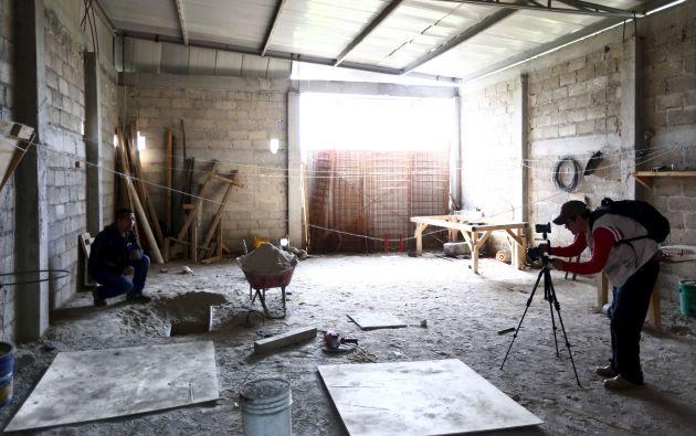 """Así luce el interior de la vivienda a la que llegó """"Chapo"""" luego de recorrer 1,5 kilómetros bajo la tierra."""