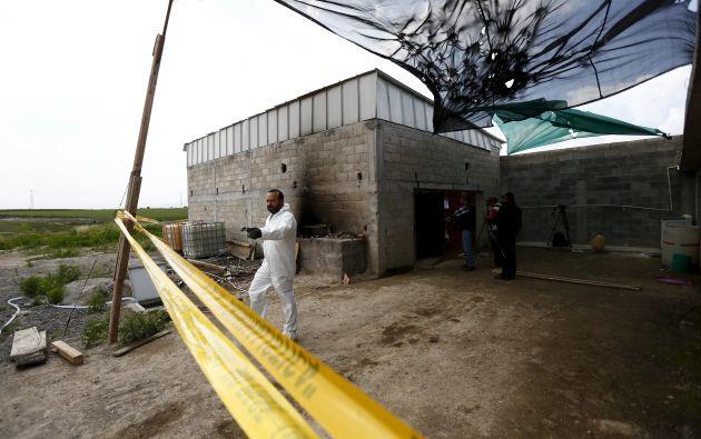 La construcción que contiene el túnel, ubicada en Amoloya de Juárez.