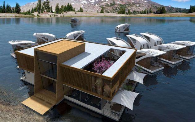 Hotel flotante. El estudio de diseño Salt and Water diseñó un plan maestro para construir un hotel flotante: apartamentos-catamarán. Una opción perfecta para el relax.