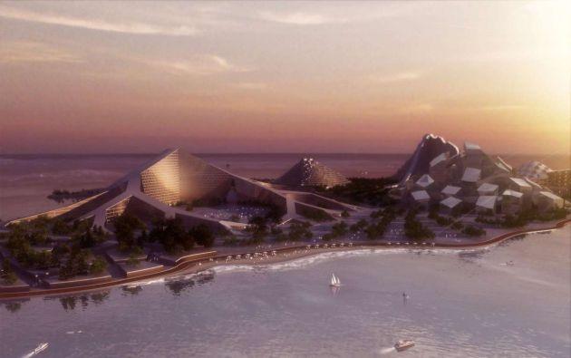 Isla Zira: los siete picos de Azerbaiyán. BIG Architects, con sede en Dinamarca, diseñó la Isla Zira, cerca de la costa de Azerbaiyán, en el mar Caspio. Esta isla fue ideada como una zona autocontenida y sin emisiones que utiliza energía eólica, solar y acuífera. Cada uno de los siete picos tendrá un desarrollo inmobiliario y un espacio público.