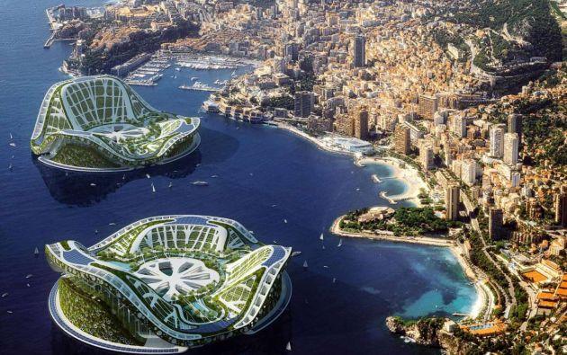 Lilypads: Mónaco. Este centro turístico de cero impacto ambiental del futuro, diseñados por Vincent Callebaut, se llaman Lilypads (nenúfar) debido a su forma, parecida a la de la flor acuática. Estas construcciones podrán tomar energía de fuentes naturales y, cada una, podrá albergar a unas 50.000 personas.