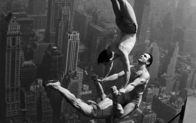 Acrobatas en el Empire State. 1934