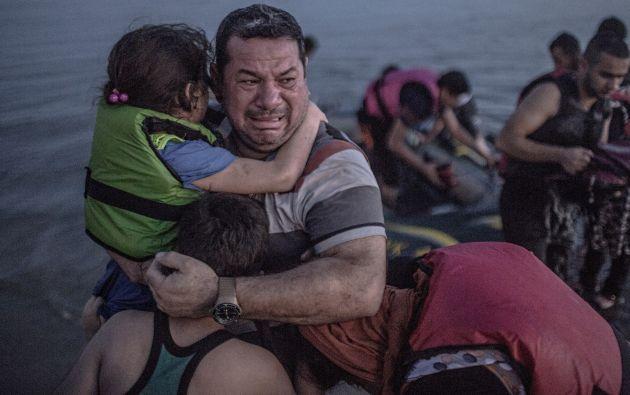 2015: llorando de alegría en la isla de Kos. Foto: Daniel Etter