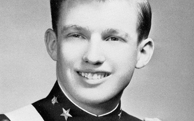 DONALD TRUMP. Antes de convertirse en un magnate inmobiliario, el actual aspirante a la Casa Blanca cursó la Academia Militar de Nueva York (1964).