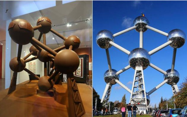 La version de chocolate y la original de Atomium.