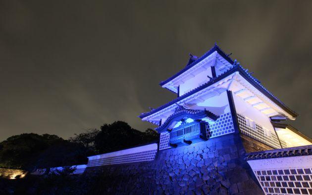 Castillo Kanazawa en Ishikawa, Japón.