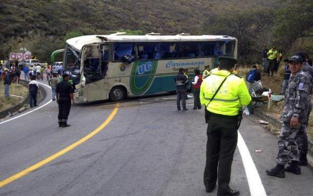 El bus pertenece a la cooperativa Cariamanga. Foto: ECU-911