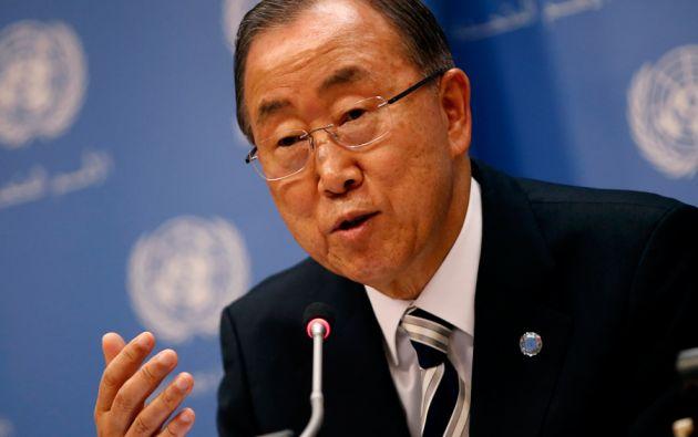 Ban Ki-moon, secretario de la ONU. Foto: REUTERS