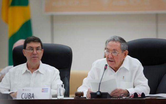 El presidente de Cuba, Raúl Castro, hizo el anuncio hoy en la cumbre. Foto: Twitter/PresidenciaVenezuela
