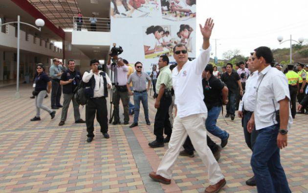 Esta tarde, tiene programado una reunión con varios representantes de trabajadores. Foto: Flickr / Presidencia Ecuador