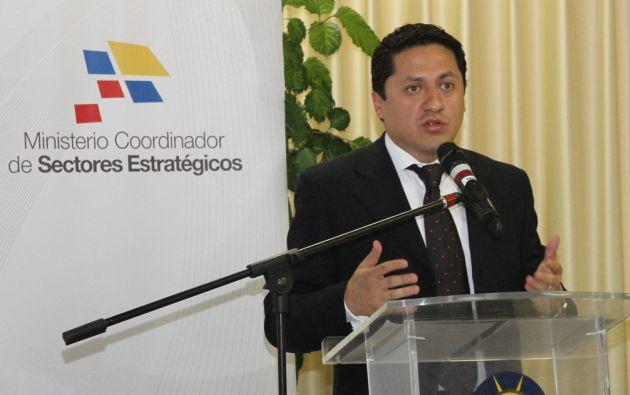 Ministro Rafael Poveda. Foto: FLICKR/Ministerio coordinador de Sectores Estratégicos