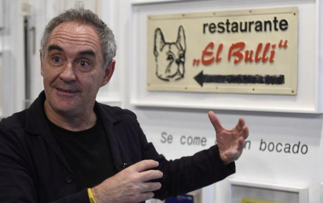 El chef español Ferran Adrià fue el fundador del restaurante elBulli. Foto: AFP