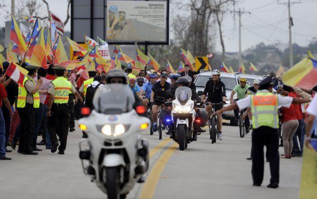 Los mandatarios fueron resguardados por la Policía Nacional y seguridad privada. Foto: Flickr / Presidencia Ecuador