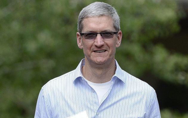 Tim Cook es el director general de Apple. Foto: EFE