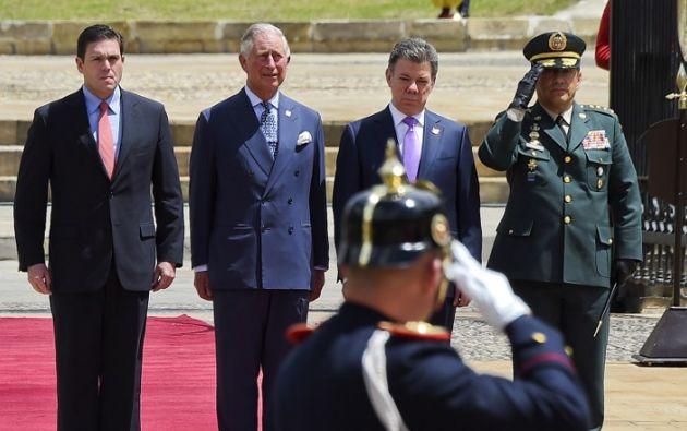 Antes de llegar a México, el príncipe Carlos estuvo cinco días en Colombia. Foto: AFP