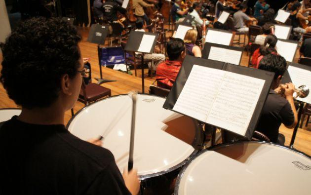 Ensayo Orquesta Sinfónica de Guayaquil.