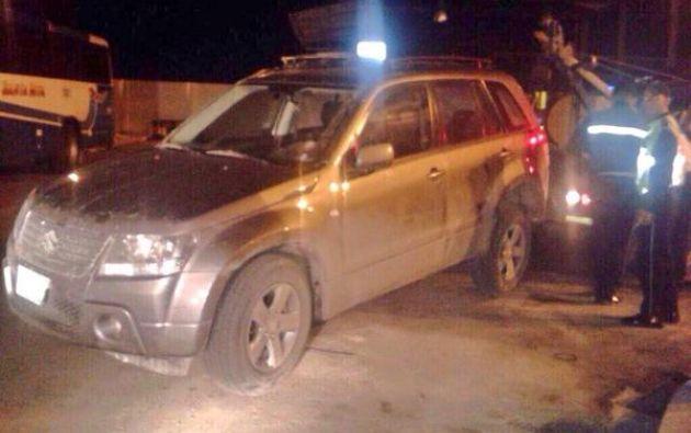 Así quedó el auto de la artista el día del accidente.