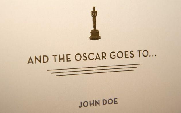 Así son los sobres que contendrán los nombres de los ganadores. Foto: AFP