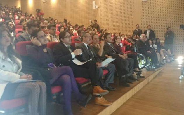 Entre los invitados estuvo la presidente de la Asamblea Nacional, Gabriela Rivadeneira. Foto: Twitter