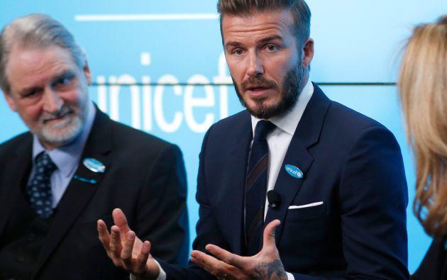 David Beckham cumple 10 años como Embajador de Unicef. Foto: REUTERS