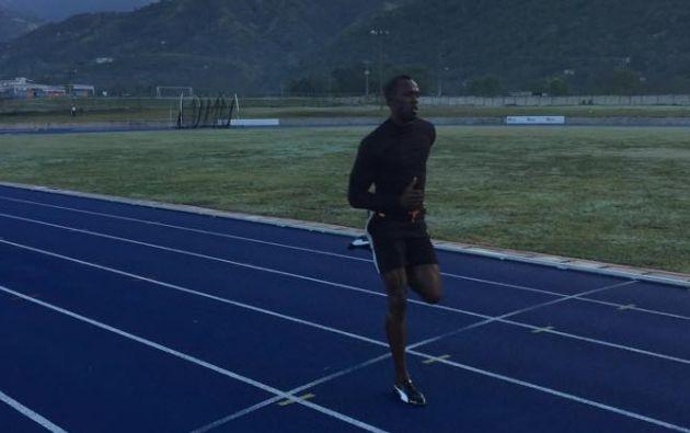 Usain Bolt entrenando este lunes 9 de febrero. Foto: Facebook Usain Bolt