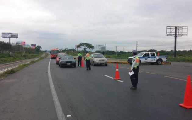 Desde la mañana hay movimiento en las carreteras. Foto: Twitter / CTEcuador