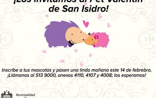 Las mascotas serán las protagonistas en el San Valentín de San Isidro, Perú.