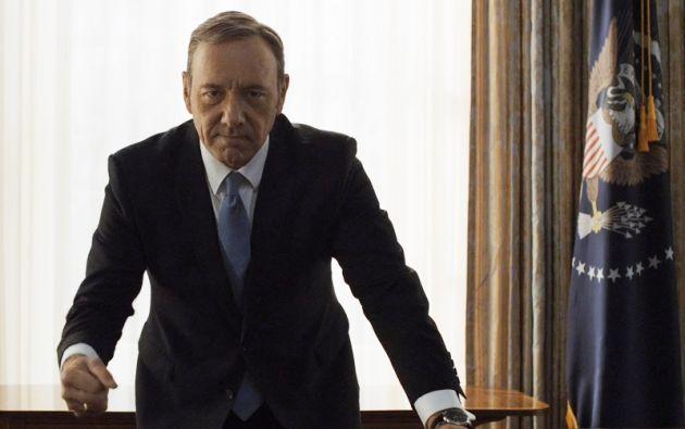 """Spacey interpreta a Frank Underwood, un """"villano"""" que se ha ganado la admiración de la crítica y la audiencia."""