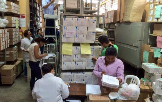 Bodegas de medicamentos del hospital. Foto: IESS